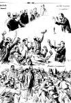 Obstrukció ábrázolása korabeli karikatúrán