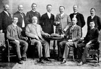 Boer vendégek és a fogadóbizottság