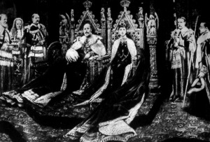 Az angol király koronázása