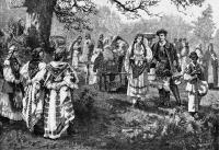 A horvát népet bemutató rajz a Monarchiáról szóló kiadványban