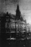 A New-York palota a tűzvész utáni reggel
