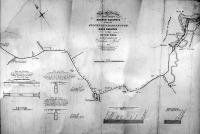 A Stockton és Darlington közötti vasút térképe