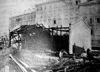 Az Adria-társaság egyik leégett raktára