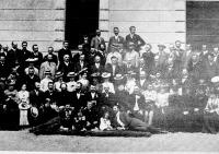 A Polgári Iskolai Tanáregylet fiumei közgyűlésének résztvevői