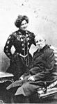 Jókai Mór és második felesége Nagy Bella