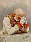 Ferenc József imádkozik