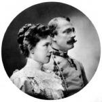 Mária Valéria főherczegnő és férje Ferenc Salvator