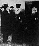 Innocent metropolita a katonai szemlén beszélget Pasics külügyminiszterrel 1903 - ban