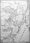 Japán és Korea térképvázlata