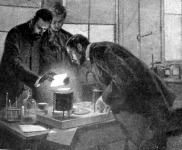 Curie és neje rádiumot készítenek