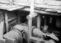 A kapcsolásra előkészitett vizvezetéki csőrészlet a káposztásmegyeri vizműtelepen