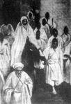 A marokkói szultán kíséretével