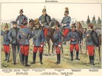 Cs. és Kir. lovasság egyenruhái 1898-ban