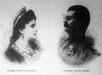 A szerb királyi pár