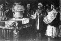 A pápa urnája