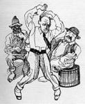 Választási mulatozás - karikatúra