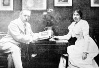 Walter Crane feleségével