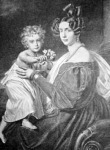A király gyermekkorában  édesanyjával Zsófia főhercegnővel