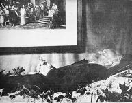 Munkácsy Mihály a halottas ágyon