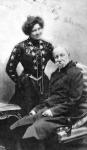 Jókai második feleségével, Nagy Bellával