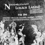 A Lukács László pénzügyminiszternek átnyujtott üdvözlő album első lapja