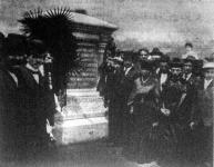 Az Amerikában, Cheswickben elpusztult magyar bányászok síremlékének leleplezése