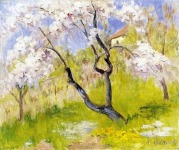 Krizsánné Csikós Antónia (1887 -1987): Virágzó almafa