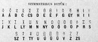 A szimmetrikus ábécze
