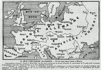 Európa térképe német győzelem esetén a német elképzelések szerint
