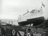 Az Árpád csatahajó vízrebocsátása