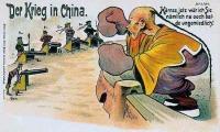 A khinai és a hatalmak - korabeli német karikatúra