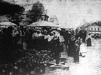 Dinnye piac a budapesti Duna parton