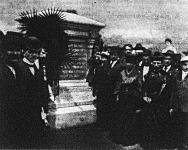 Amerikában elpusztult magyar munkások síremléke