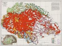 Magyarország néprajzi térképe a népsűrűség alapján 1920.