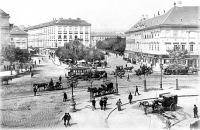 Budapesti életkép a századelőről - középen az Adria Palace épületével