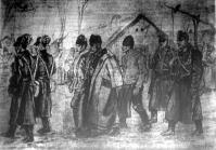 Sztájkoló mezei munkások bekísérése
