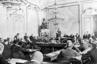 A magyar delegáció ülésterme