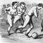 Az első hazai futball ábrázolása