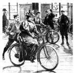 Kerékpározó hölgy