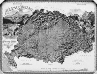 Magyarország domborzati térképe, 1899