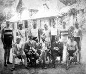 A párisi olympiai versenyen résztvett magyar atléták. Strausz Gy., Réty P., Krepelka B., Kutassy V., Koppán F.