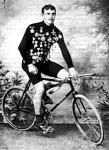 Kerékpárversenyző 1900-ból