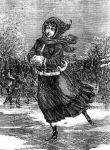 Korcsolyázó lány a századfordulón