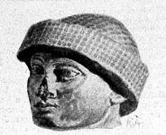 Egy őskor beli férfi feje Babylonból