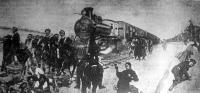 Sztrájkoló orosz vasutasok megállítanak egy vonatot