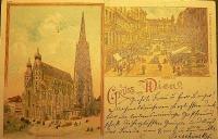 Bécsi korabeli képeslap