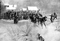 Zichy : II. Sándor czár egy falu határához érkezik