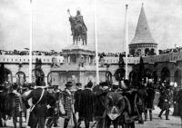 Szent István szobor a budavári Halász-bástyán