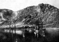 A Frijthof három árboczos hajó, melyen Wellmann dróttalan táviró-készüléke van
