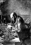 Koch Róbert a laboratóriumában